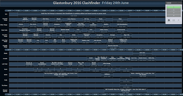 Full Glastonbury 2016 festival 24th June Lineup, 24th june acts for Glastonbury 2016
