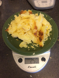 50 grams of effective carbohydrate in white potatoes on food scale