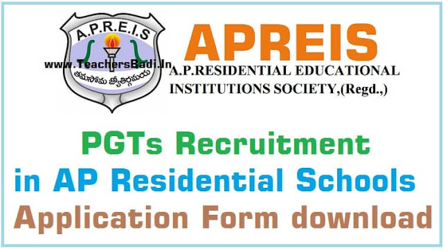 APREIS,PGTs recruitment,AP Residential Schools,application form