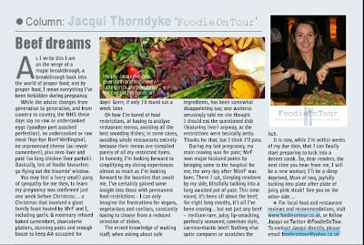 food writing, columnist