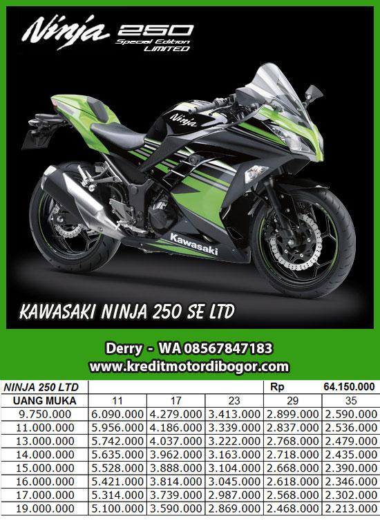 Daftar Harga Kredit Motor Kawasaki Ninja 250 SE LTD di Bogor