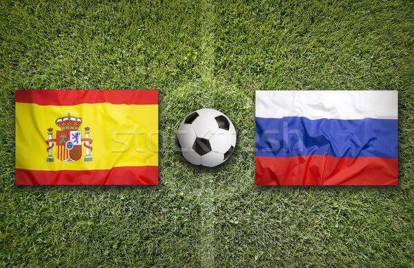 روسيا تتعادل امام اسبانيا على ملعب كريستوفسكي بثلاثة أهداف فى لقاء ودى