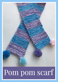 How to knit a pom pom scarf for a child