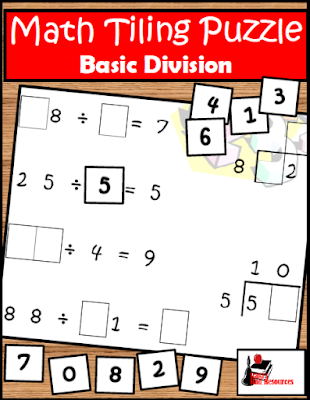 Free division tiling puzzle to help your students work on division, multiplication, and math properties - from Raki's Rad Resources.
