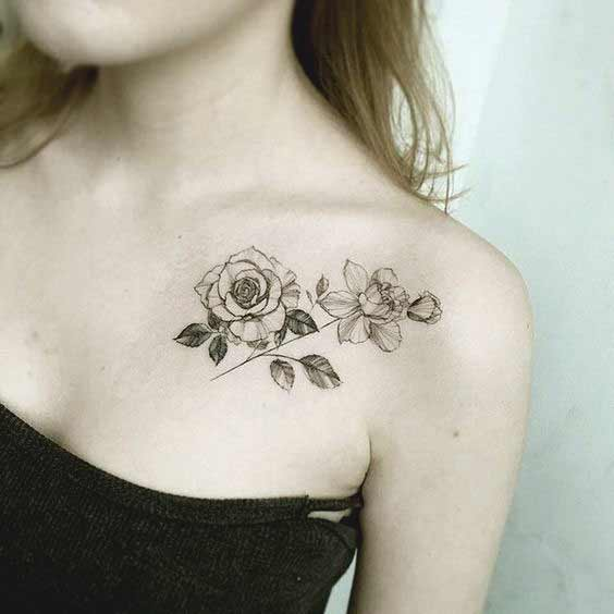 50 Stunning Collar Bone Tattoos For Women And Men