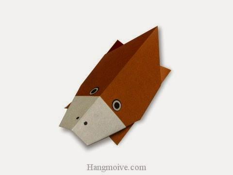 Cách gấp, xếp con thú mỏ vịt bằng giấy origami - Video hướng dẫn xếp hình sinh vật dưới nước - How to fold a Platypus