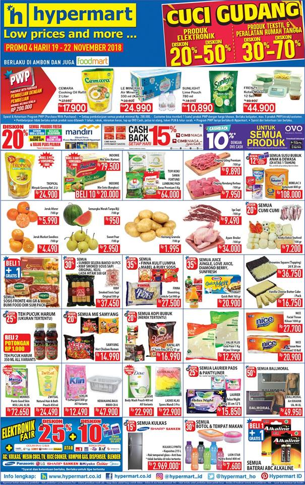 Hypermarket - Promo Katalog Low Price and More Periode 19 - 22 November 2018