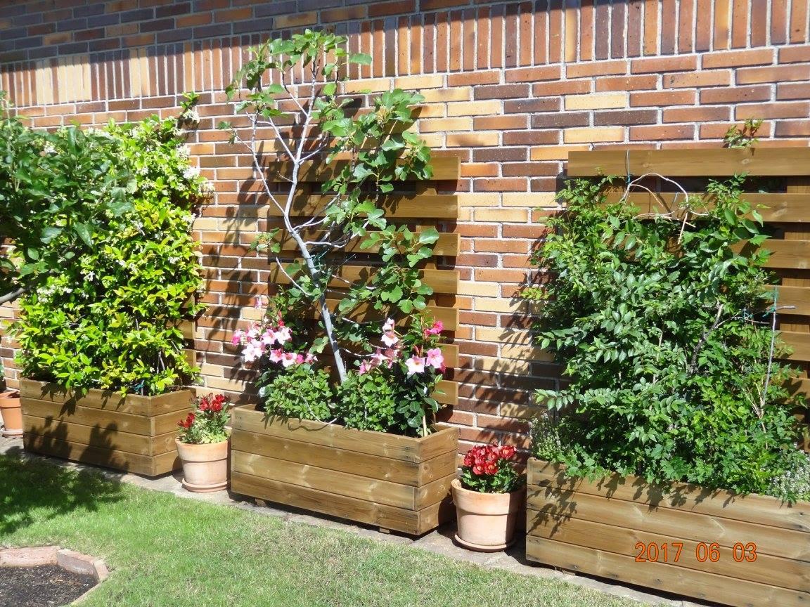 Jardineras de madera for Celosias de jardin