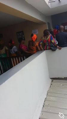 Photos: Women storm Federal High Court in protest against seizing Patience Jonathan's account