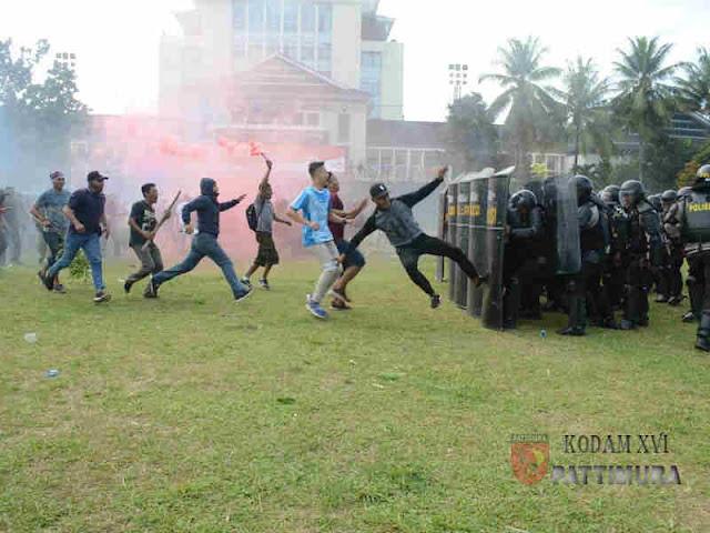 Amankan Pemilu 2019, TNI - Polri di Maluku Gelar Apel Gelar Pasukan