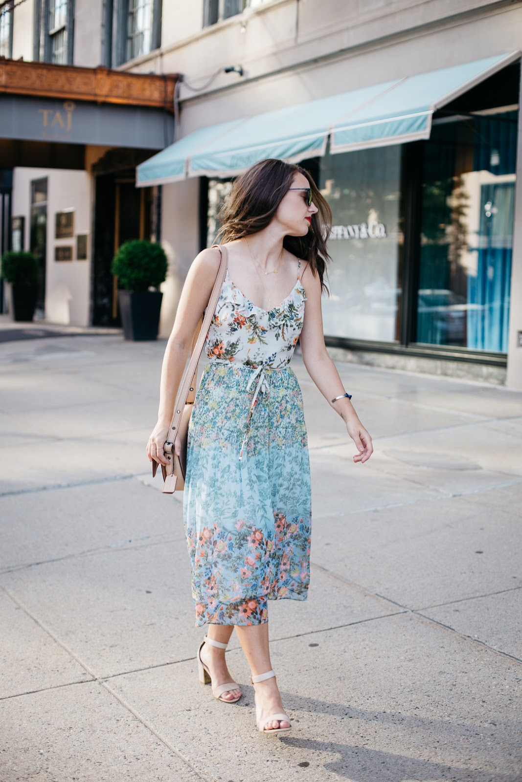 Stay cool but look hot in this floaty, floral midi dress from Oasis