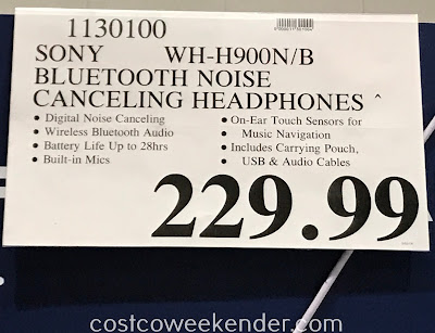Deal for the Sony h.ear on 2 Noise Canceling Wireless Headphones WH-H900N at Costco
