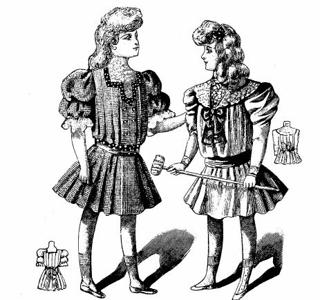 девочки в старинных платьях