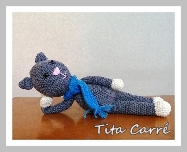 Monsieur Perdu - Um gato em crochet