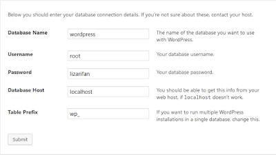 Isi informasi database