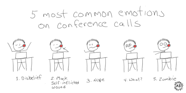 5 most common emotions on conference calls