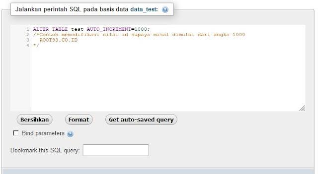 Membuat id Database MySQL Dimulai Dari Angka Tertentu
