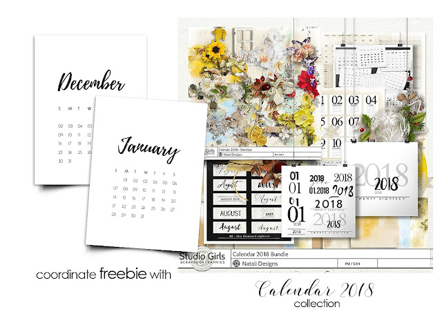 2018 Calendar collection + 40% off DSD sale + freebie