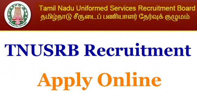 TNUSRB Recruitment (2019)