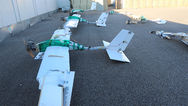 Image Attribute: Drones hijacked and landed by Russian troops in Syria on Jan 6, 2018 /Source: Russian Defence Ministry