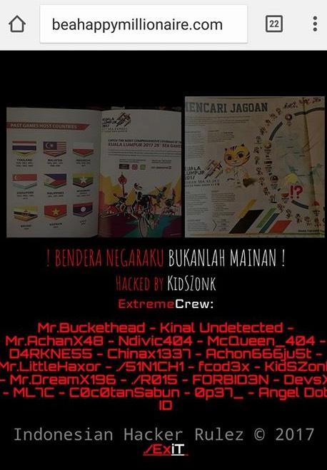 Laman Sesawang Malaysia Digodam Tentera Siber Indonesia