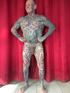 Meet Man Who Spent £7,500 To Cover His Body With Tattoos, Including His P*nis (Photos)