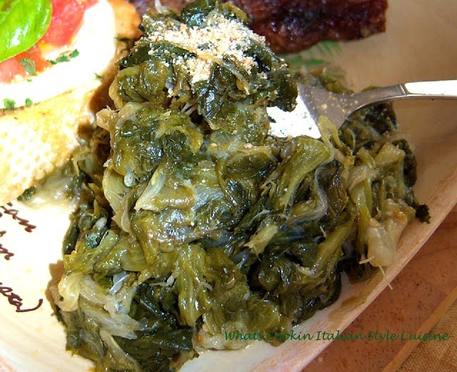 this is how to make Italian sauteed escarole and the recipe is from Utica New York Greens