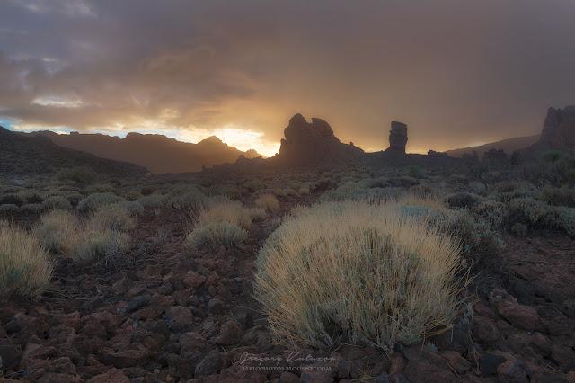 Закат над пальцем Бога. Тенерифе. Канарские острова
