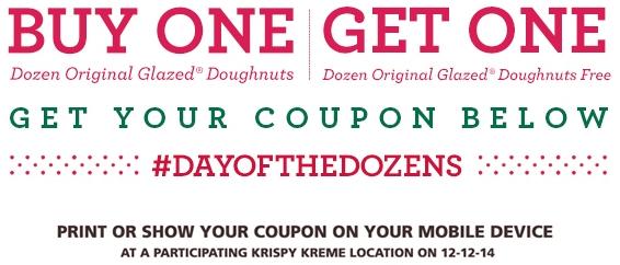 Krispy Kreme: B1G1 Free Dozen Glazed Donuts