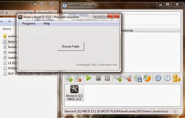 Hirens7 - Cara Menjalankan Hirens Menggunakan Daemond Tools