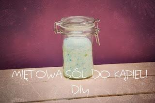 Miętowa sól do kąpieli DIY