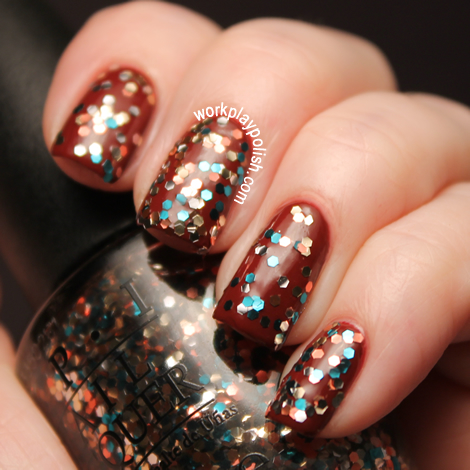 OPI 2012 Skyfall Collection: The Living Daylights over Skyfall (work / play / polish)