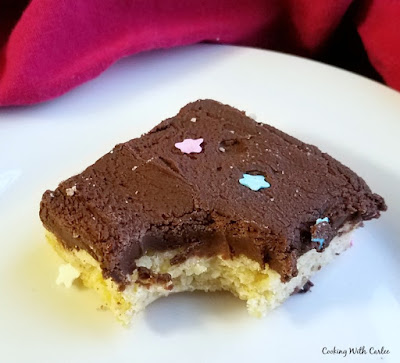 sugar cookie bar with bite missing