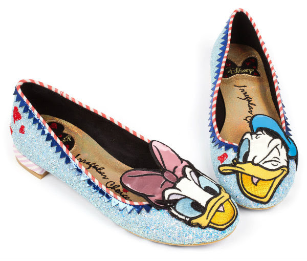 irregular choice disney donald daisy duck glitter shoes
