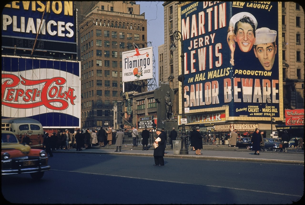Colorizing History Time Square 1937 Father Duffy Memorial