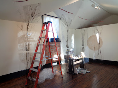 """just turn your head a little"" installation in progress by Verna Vogel"
