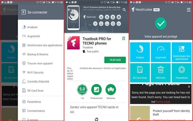 تنزيل افضل تطبيق الحماية تمنه 19.99 دولار مجانا  Trustlook pro for TECNO phones
