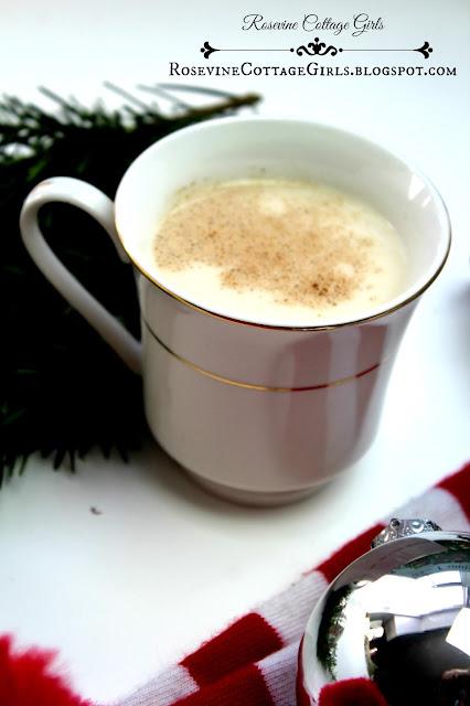 Eggnog, Egg Nog, Eggnog Recipe, Christmas Eggnog, Non Alcoholic Eggnog, Homemade eggnog, Healthy eggnog by Rosevine Cottage Girls