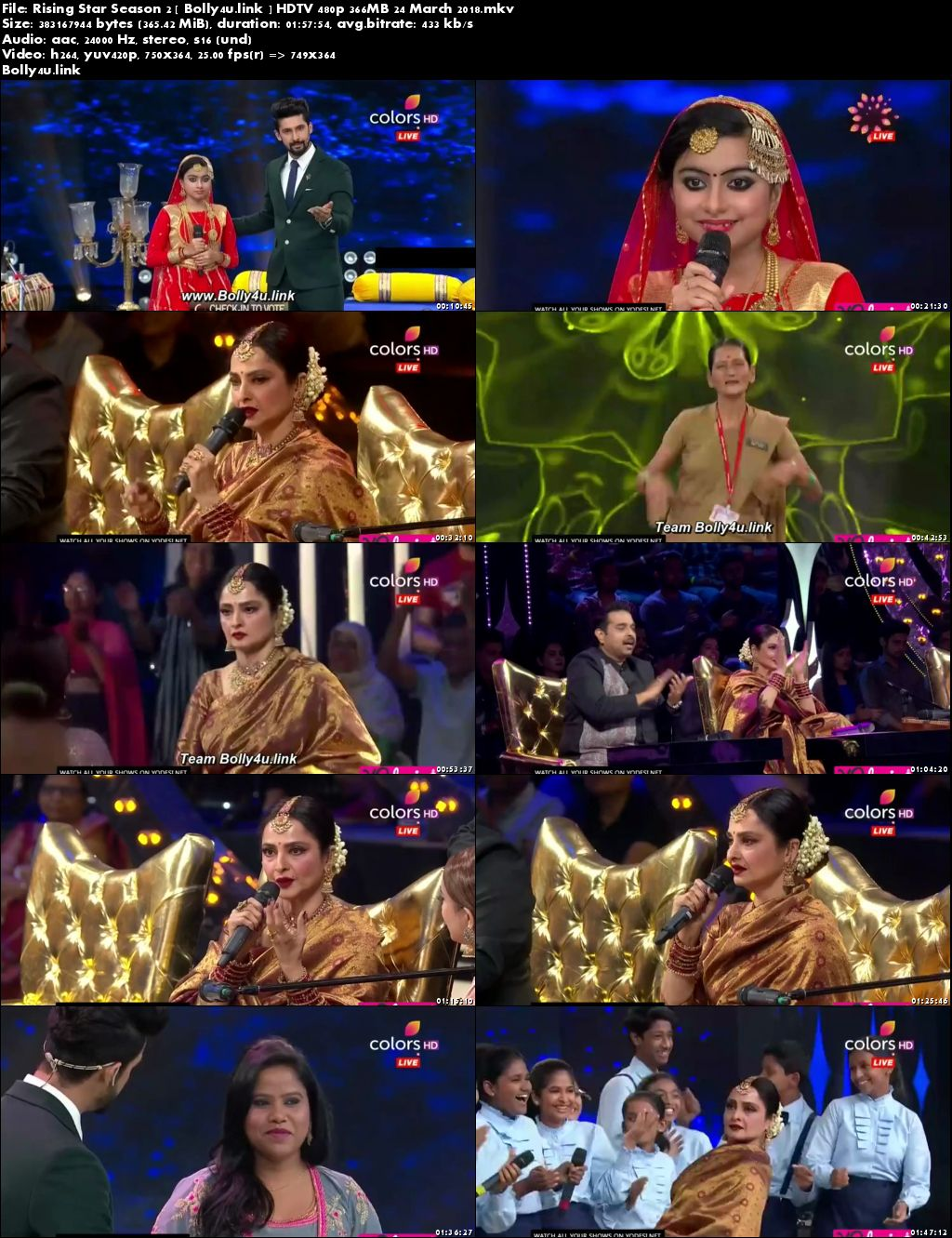 Rising Star Season 2 HDTV 480p 350MB 24 March 2018 Download