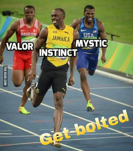 Pokemon Team Race - Valor Mystic Instinct