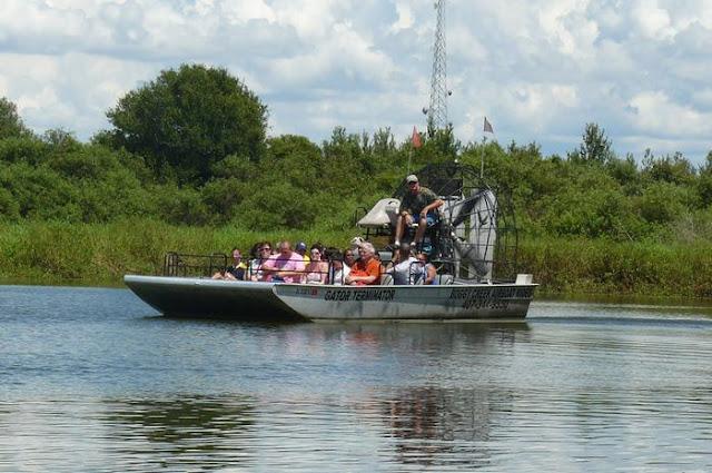 airboat ride, lanchas voladoras impulsadas por aire, Everglades