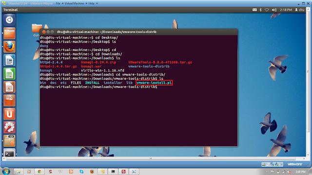 Mùa Hè Sáng Tạo 2013 Openstack: Cài đặt VMWare Tools trong