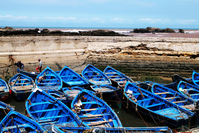Boats at Essaouria, Morocco