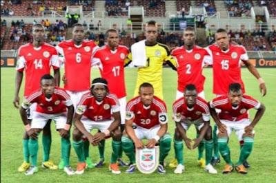 The Burundi national football (soccer) teams Intamba m'Urugamba