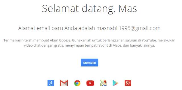 sukses daftar gmail