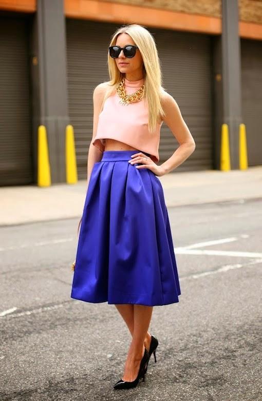 diseño atemporal 42562 f2a59 Quién dijo que las 'bajitas' no pueden llevar faldas midi ...