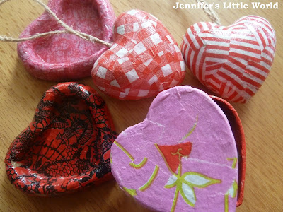 Valentine hearts decopatch craft kit