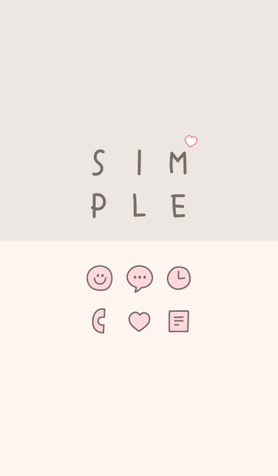 Girly SIMPLE / ivory-pink