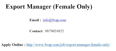 Export Manager (Female Only)