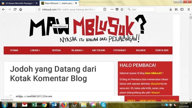 Blog Bisa Mendatangkan Jodoh Juga